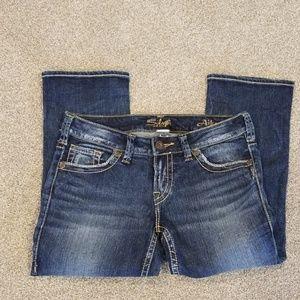 Silver jeans aiko capri size 29/23